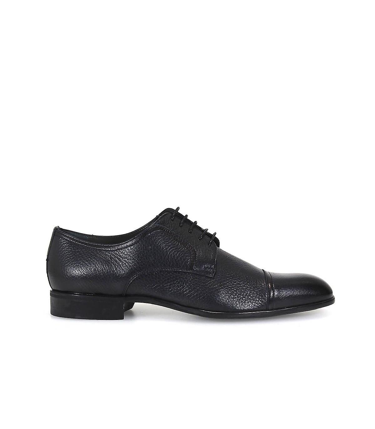 MORESCHI DARK BLUE DERBY LACE UP