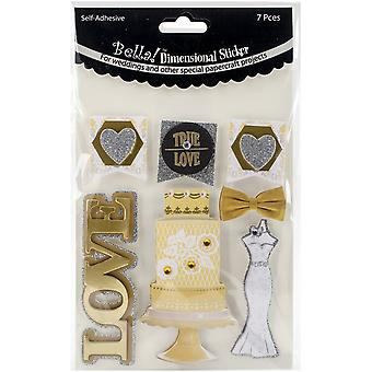 Bella! Get Hitched 3D Stickers