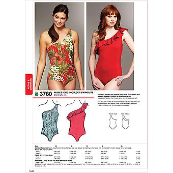 One Shoulder Swimsuits-XS-S-M-L-XL -*SEWING PATTERN*
