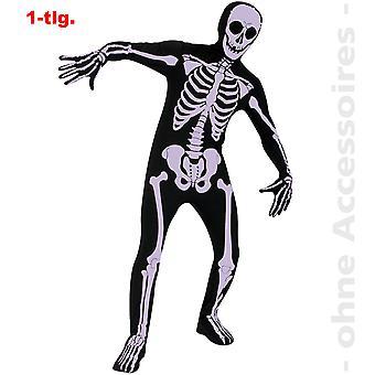 Second skin costume mens skull skeleton costume skeleton Halloween mens costume