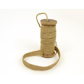Natural Jute Trim on a Wooden Spool   Twine Cord & Elastic for Crafts