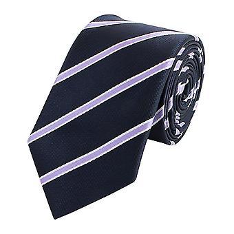 Tie slips tie slips smal 6cm svart/lila randig Fabio Farini