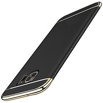 Cell phone cover case for Samsung Galaxy S7 bumper 3 in 1 cover chrome black