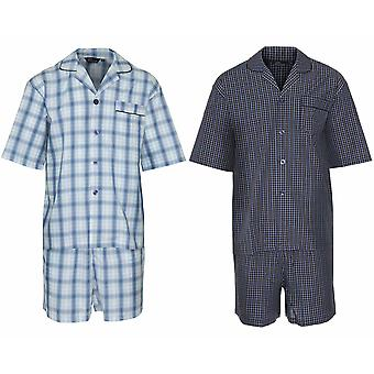 2 Pack Mens Champion Luxury Polycotton Short Pyjama Lounge Wear pajama