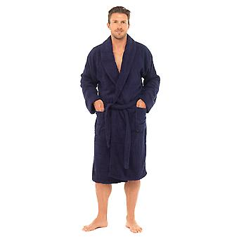 Tom Franks Mens Supersoft Cotton Bathrobe Dressing Gown