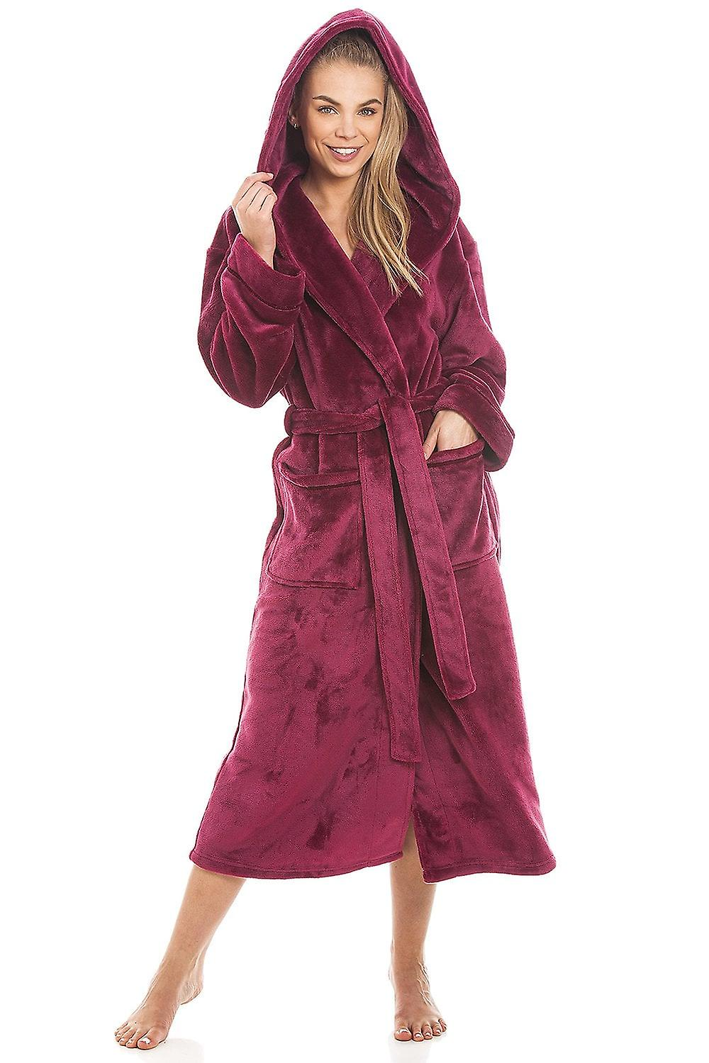 0528452001 Camille Super Soft Fleece Ruby Red Dressing Gown