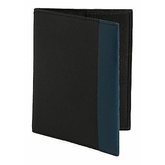 Simon Carter color tira cubierta del pasaporte - negro/azul