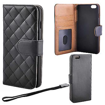 Quilted Luxury Wallet case for iPhone 6/6s PLUS, Black