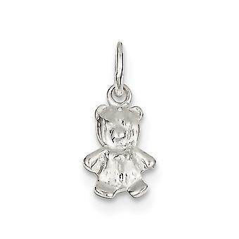 Prata esterlina sólida polido ursinho charme - 1,6 gramas