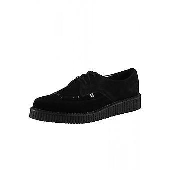 TUK scarpe nero camoscio punta Creeper