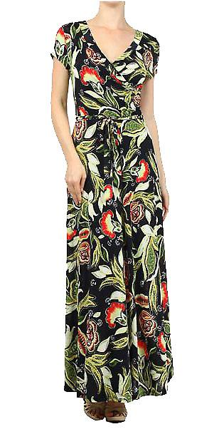 Waooh - Fashion - Dress Long-cut floral print
