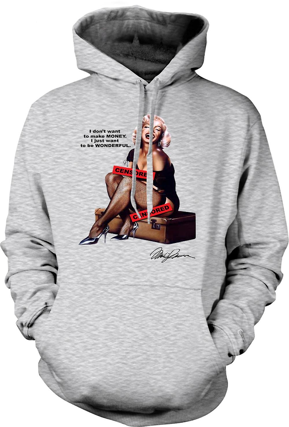 Herren Hoodie - Marilyn Monroe Pin-up - Censored