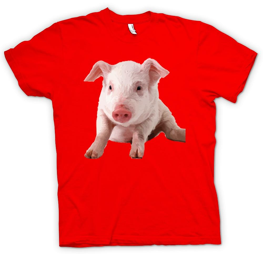 Herr T-shirt-Cute Nasse svin porträtt