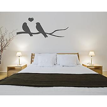 Love Birds On A Branch Wall Sticker