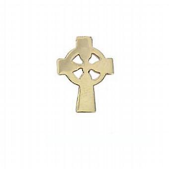 9ct Gold 7x5mm plain Celtic Cross Tie Tack