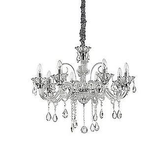 Idealne Lux - kolosalne szkło bezbarwne osiem Light Świecznik IDL114187