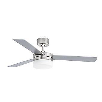 Faro - Panay Medium Matt nikkel loft Fan med lys FARO33608