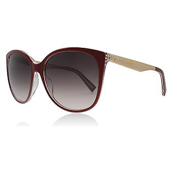 Marc Jacobs MJ203/S LHFHA Burgundy Copper Gold MJ203/S Butterfly Sunglasses Lens Category 3 Size 56mm