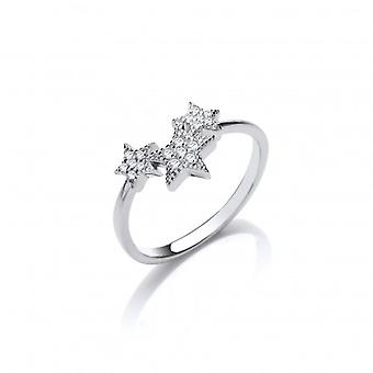 Cavendish French Silver and CZ Shooting Stars Ring