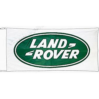 Large Land Rover (white) flag 1500mm x 900mm  (of)