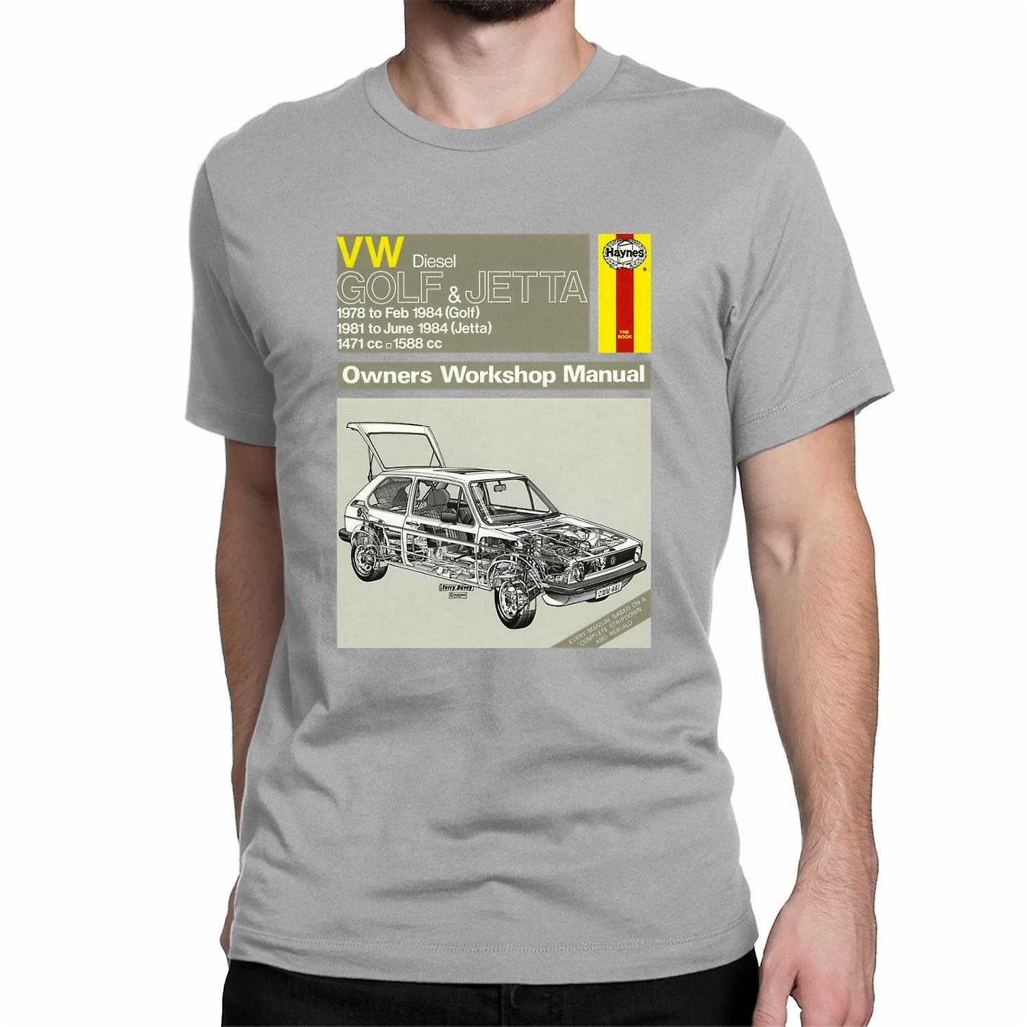 Official Haynes Manual Unisex T-shirt VW Diesel GOLF 78 to 84, JETTA 81 to 84 Owners Workshop Manual