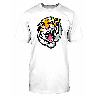 Cartoon Tiger Head Herren T Shirt