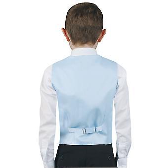 Los muchachos de Dobell luz Paisley azul chaleco Regular Fit boda