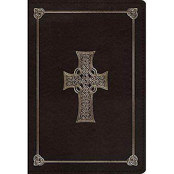 ESV großen Print kompakte Bibel (Trutone, Holzkohle, Keltisches Kreuz Design)