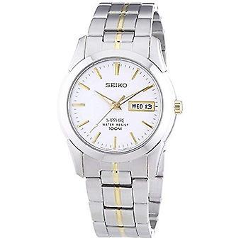 Seiko Conceptual Quartz Silver Stainless Steel White Dial Mens Watch SGG719P1