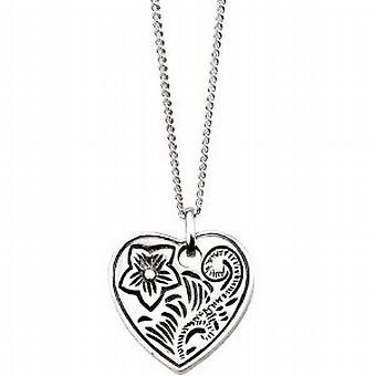 Elements Filigree Heart Pendant on 18