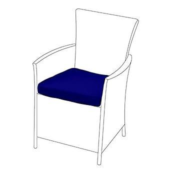 Cojín de asiento azul para silla rattan, Pack de 6