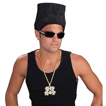 Hip-Hop-hohe obere Fade 80er Jahre Vanille Eis Männer Kostüm Perücke
