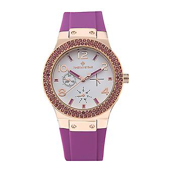 Timothy Stone Women's FACON-SPORT Rose Gold-Tone and Purple Strap Watch