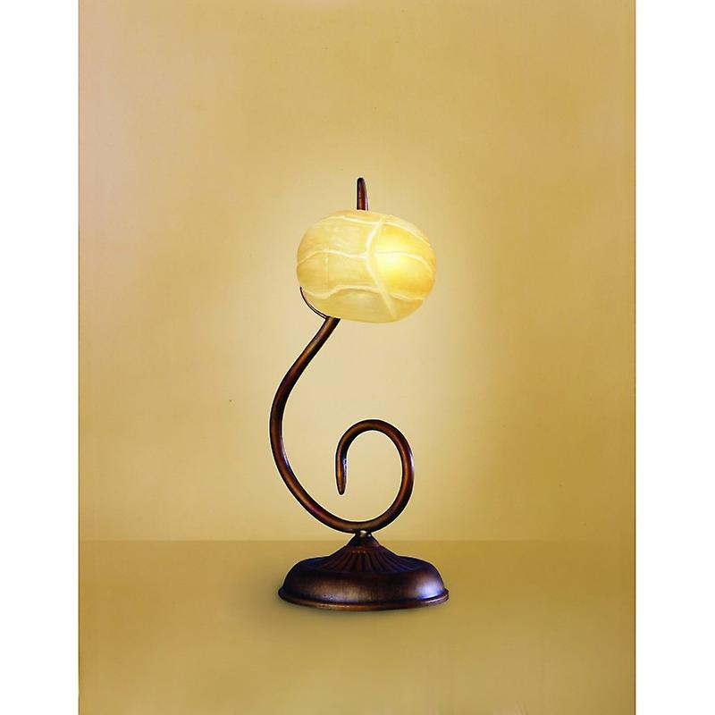 Wave Table Lamp 1 lumière G9, Rustic or