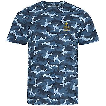Royal Monmouthshire Royal Engineer Veteran - Licence British Army Embroidered Camouflage Print T-Shirt