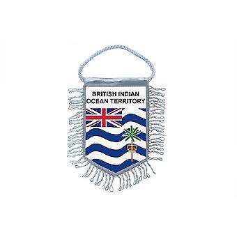 Fanion Mini Drapeau Pays Voiture Decoration Territoire Britannique Ocean Indien