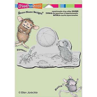 Stampendous House Mouse Cling Rubber Stamp 5.5