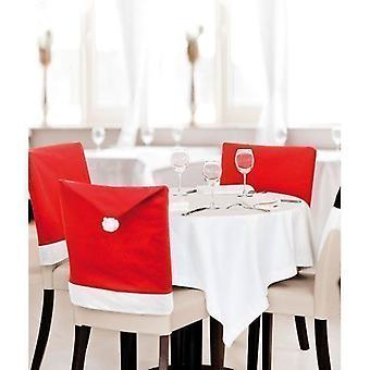 6 piezas SANTA sombrero Navidad cena fiesta silla asiento cubre mesa decoración Navidad