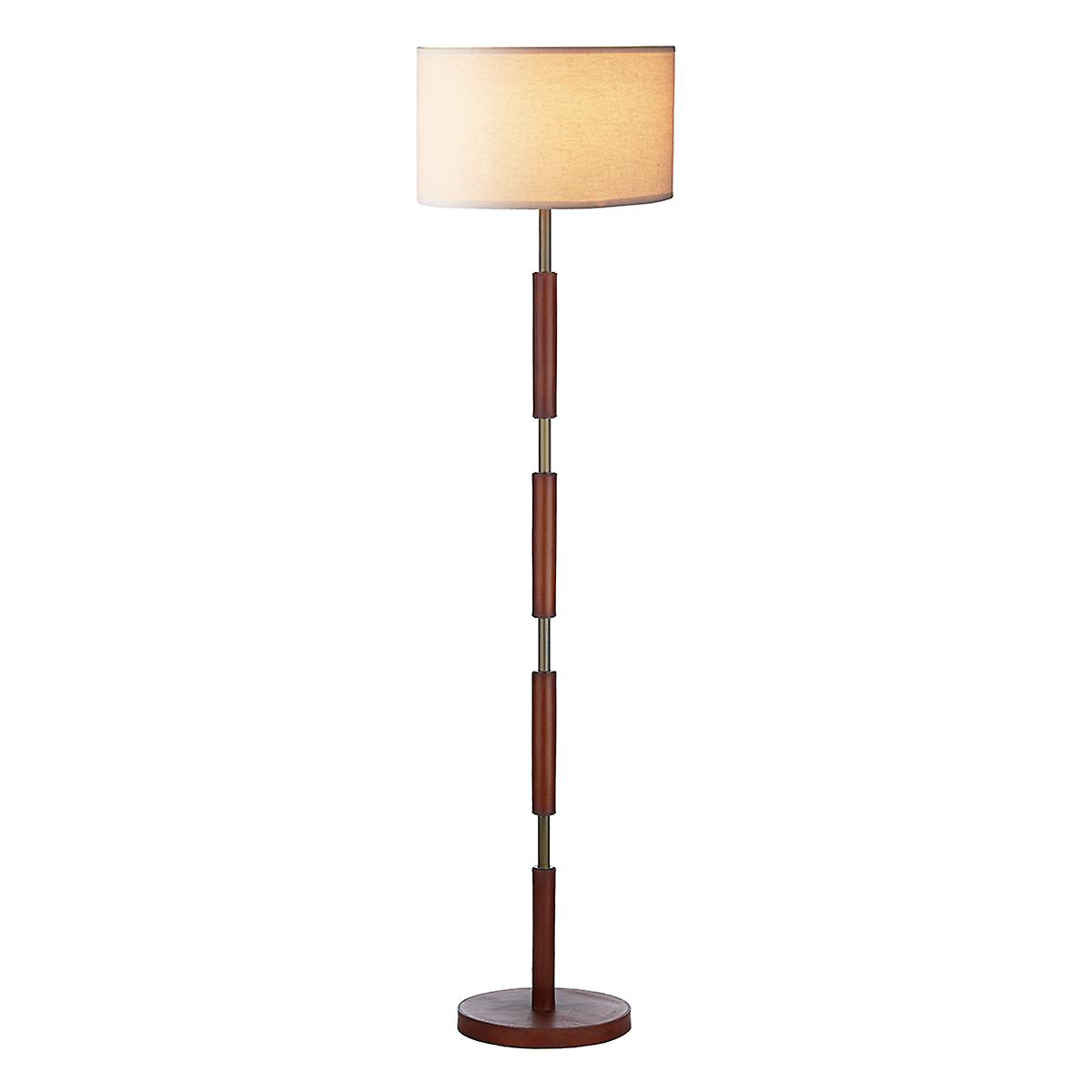 David Hunt SA993 Saddler Leather Effect Floor Lamp Only - Shade Not Supplied