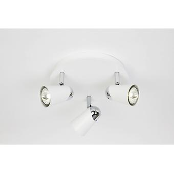 EL-10083 Contemporary Spotlights In White And Chrome
