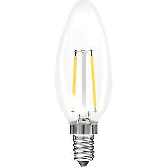 LED E14 Candle 2 W = 25 W Warm white (Ø x L) 35 mm x 98 mm EEC: A++ Müller Licht Filament 1 pc(s)