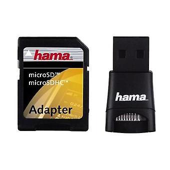 External memory card reader USB 2.0 Hama 91047 Black