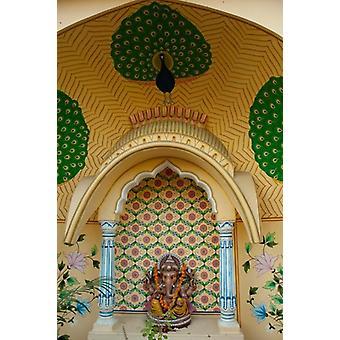 Pequeno santuário de Ganesh Jaipur Rajasthan India Poster Print por Inger Hogstrom