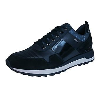 Geox D Aneko B ABX Womens Leather Waterproof Trainers / Shoes - Black