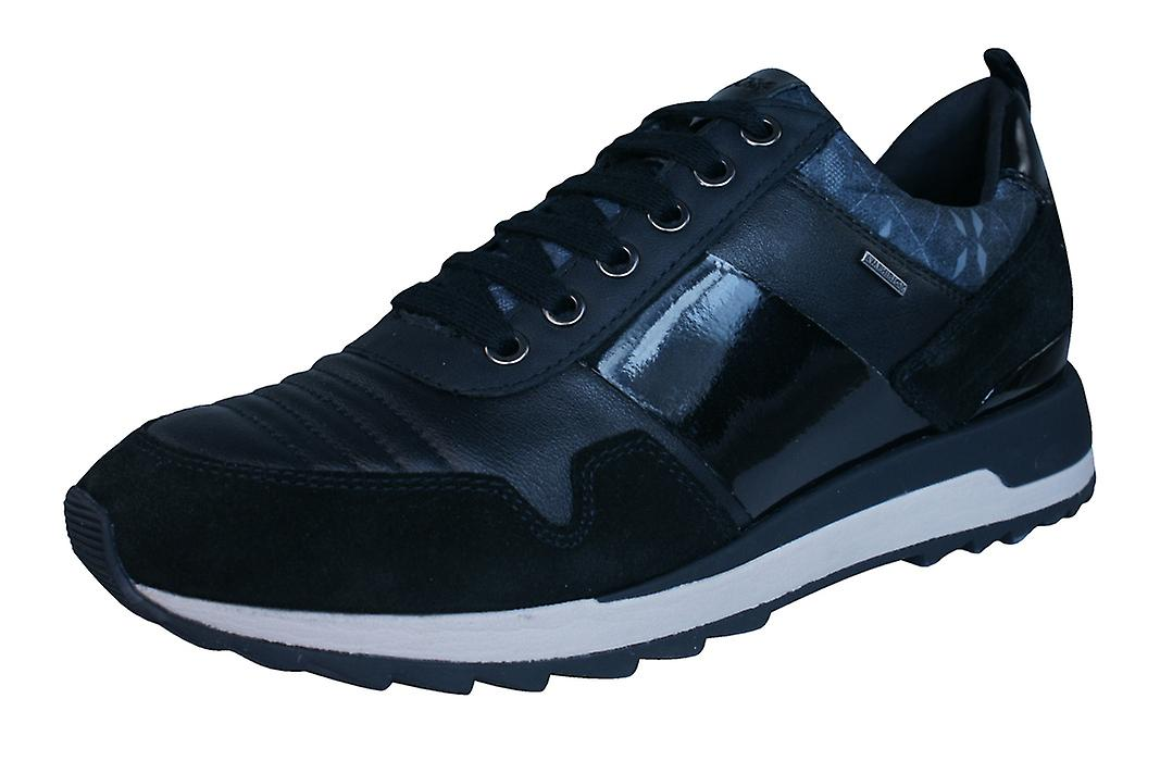 Geox D Aneko B ABX Womens Shoes Leather Waterproof Trainers / Shoes Womens - Black 7f2f4c