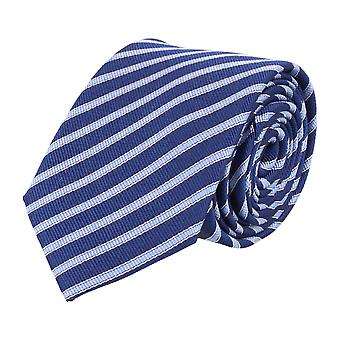 Pelo classic silk tie tie silk dark blue - light blue stripes