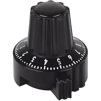 Mentor 4331.6032 Plastic Locking Knob, Dial Markings, Collet Fixing, ABS