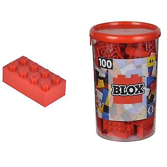 Simba Pot With Red Blocks 100 (Toys , Constructions , Bricks And Pieces)