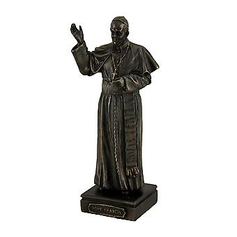 Pope Francis Bishop of Rome Decorative Bronzed Statue