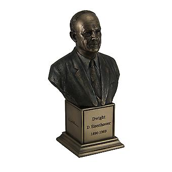 American President Dwight D. Eisenhower Bronze Finish Statue On Inscribed Plinth